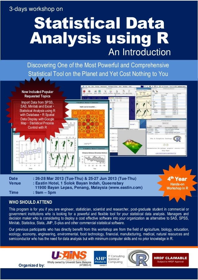 3-days workshop on               Statistical Data               Analysis using R                                          ...