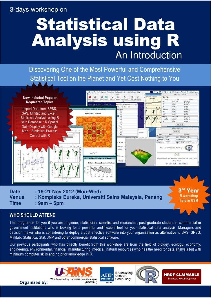 3-days workshop on               Statistical Data               Analysis using R                                          ...