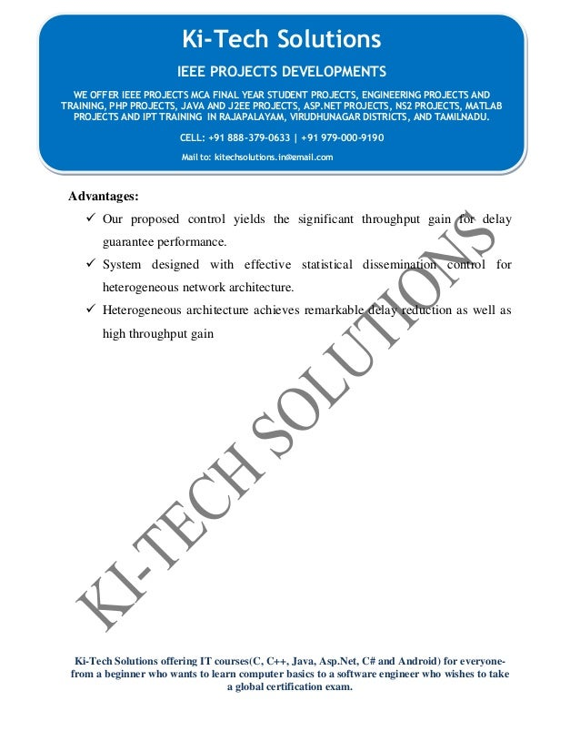 Ki-Tech Solutions offering IT courses(C, C++, Java, Asp.Net, C# and Android) for everyone- from a beginner who wants to le...