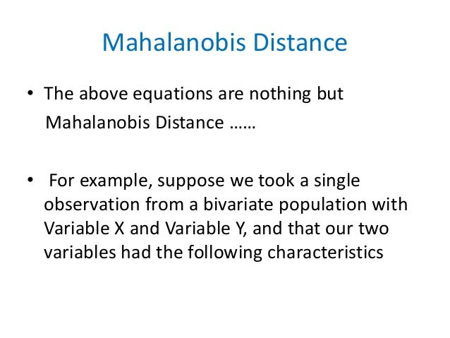Different kind of distance and Statistical Distance