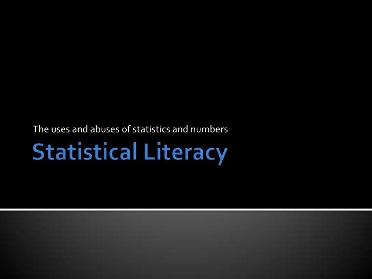 The uses and abuses of statistics and numbers
