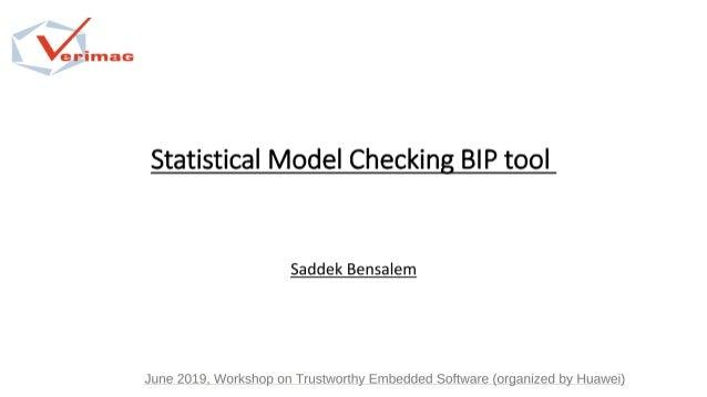 Statistical model checking bip tool