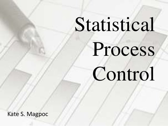 Statistical Process Control Kate S. Magpoc