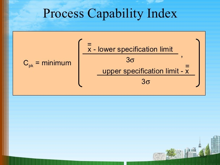 process capability and statistical process control essay Statistical process control methods  process metrics including variation and process capability  checker to guarantee that every essay is written.
