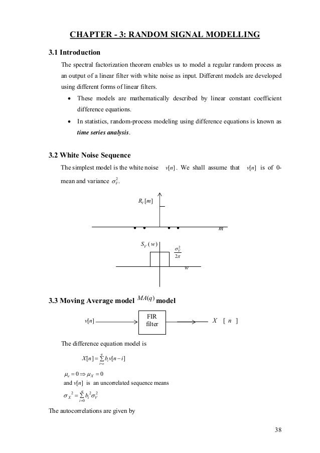 Statistical signal processing(1)