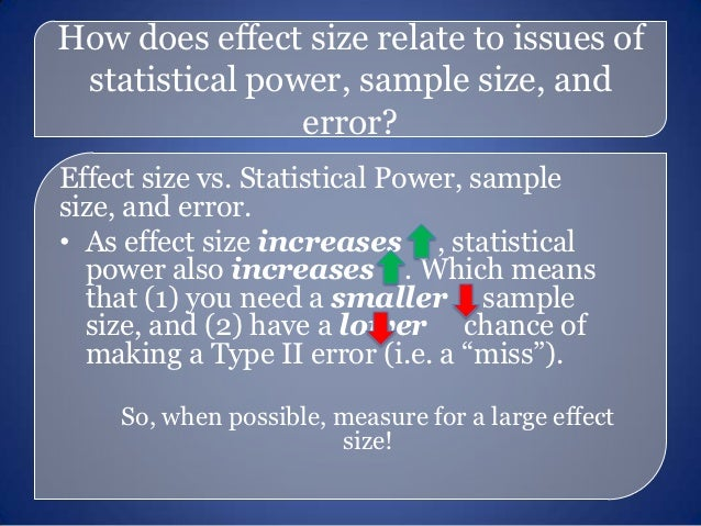 What's Significant? Hypothesis Testing, Effect Size, Confidence Inter…