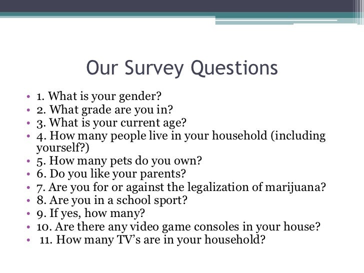 Statistical survey project