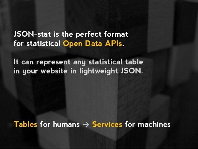 StatisticalTable, a JSON-stat-based vocabulary Slide 2