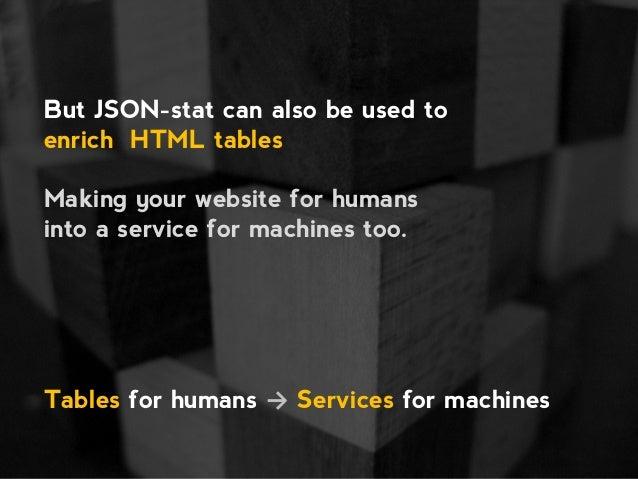 StatisticalTable, a JSON-stat-based vocabulary Slide 3