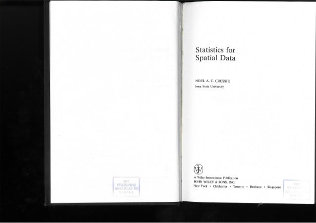 Statistic for spatial data