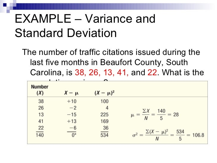 Statistics 58 example variance and standard deviation ccuart Image collections