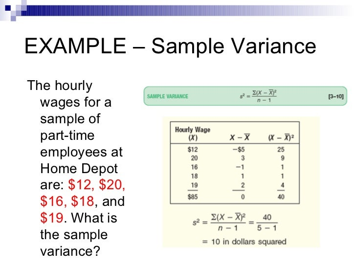 statistics example Most mathematical models include parameters that need to be determined from  measurements the estimated values of these parameters and their.