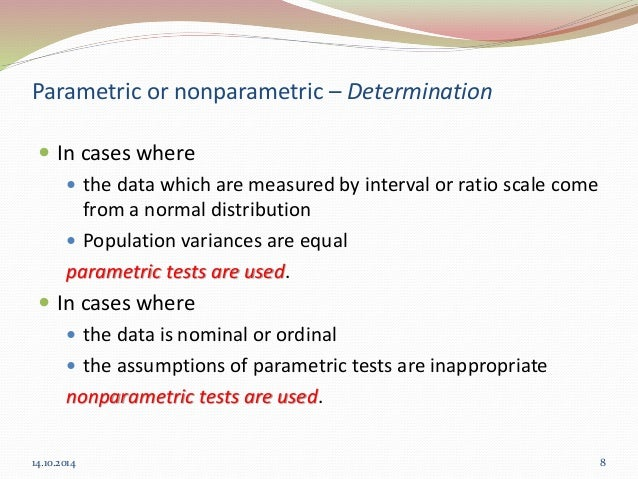 parametric vs nonparametric tests  when to use which