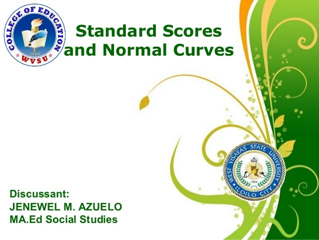 Normal curve and standard scores click here to download this powerpoint template green floral free powerpoint template for more toneelgroepblik Images