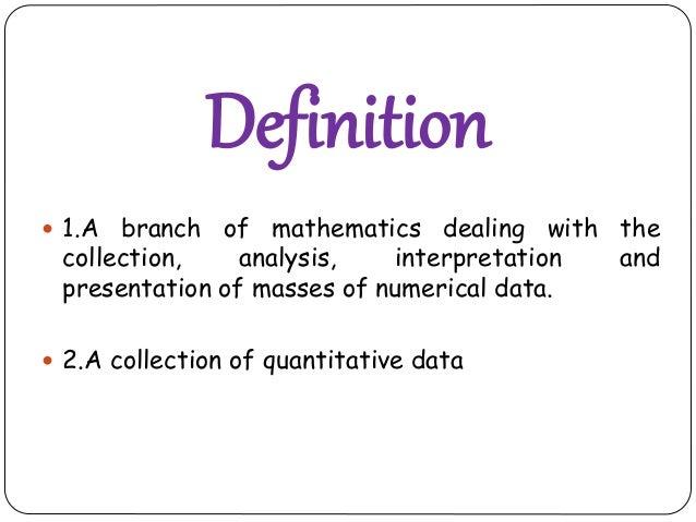 Statistics Slide 2