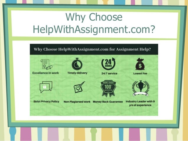 Why Choose HelpWithAssignment.com?