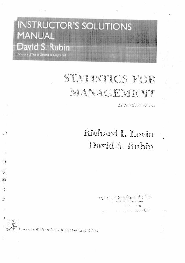Statistics for-management-by-levin-and-rubin-solution-manual 2