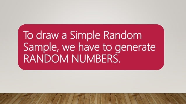 Statistics   how to draw a simple random sample using excel sk1 Slide 2