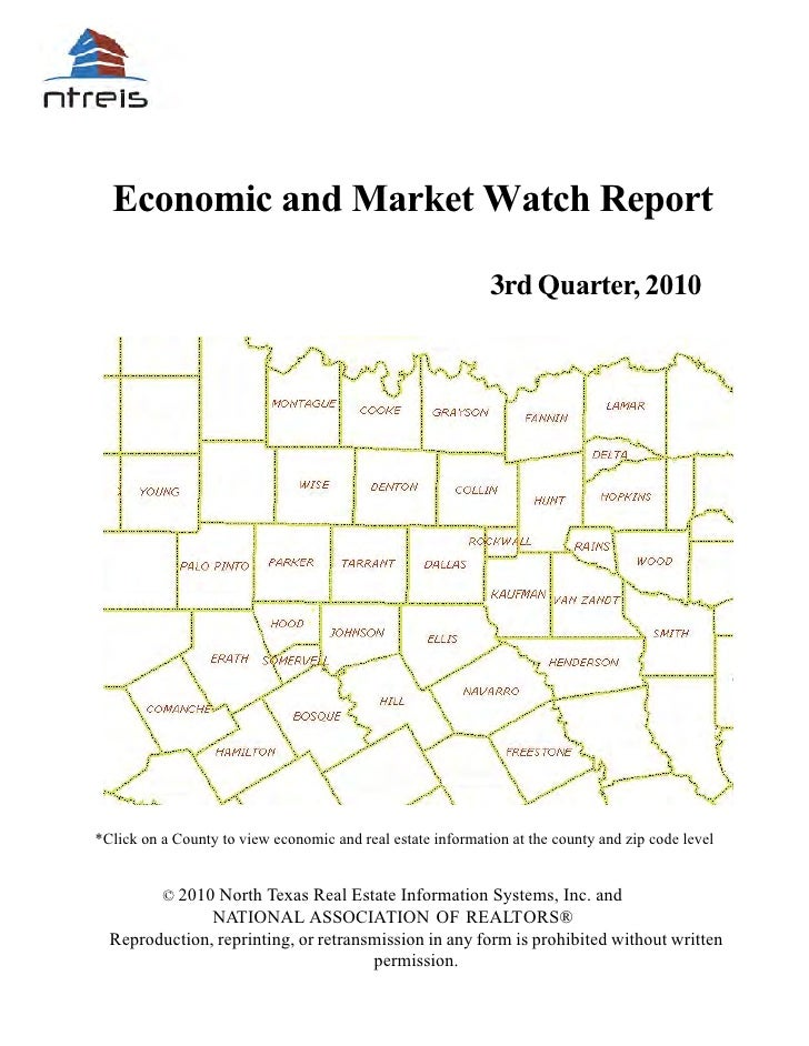Economic and Market Watch Report                                                             3rd Quarter, 2010*Click on a ...