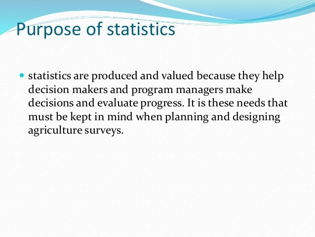 purpose of statistics Statistics for action (sfa) is a partnership between environmental organizations  and  the central purpose of all sfa materials is to encourage organizers and.
