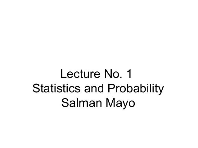what are statistics and probability