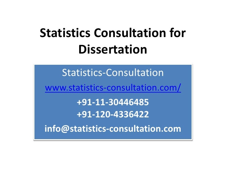 Dissertation Statisticians For Hire Service - Statistical Analysis Consulting Help