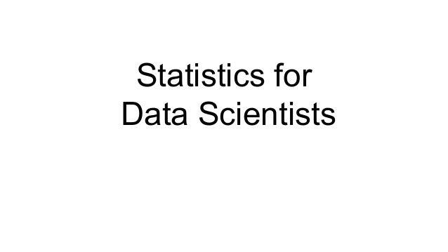 Statistics for Data Scientists