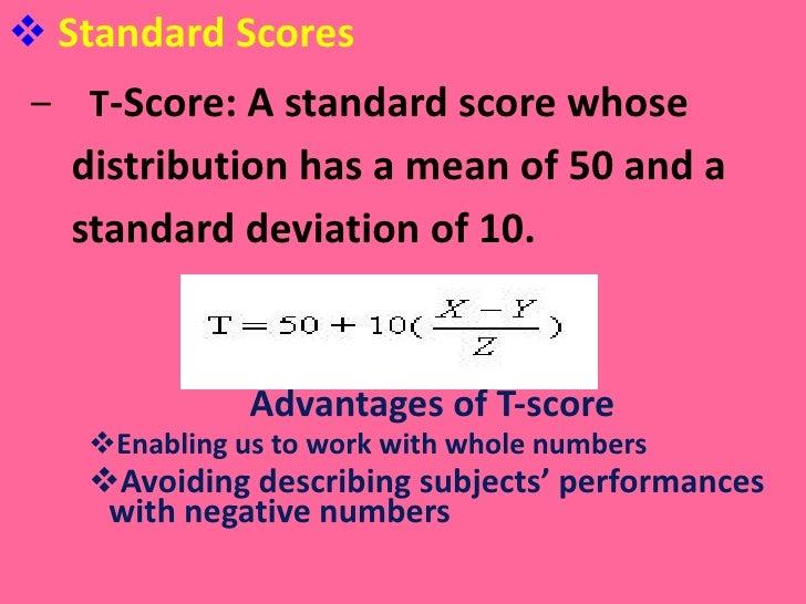 Statistics for interpreting test scores