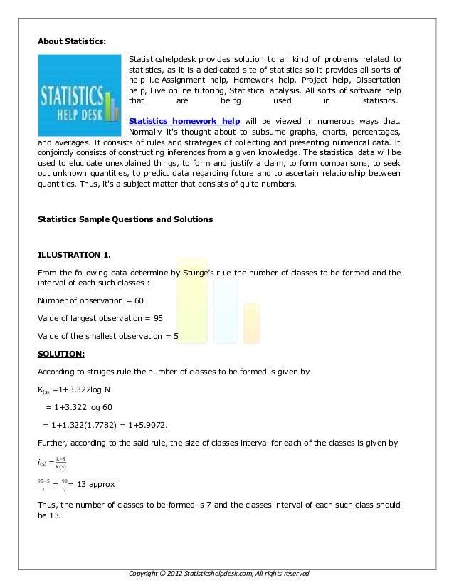 Telikstatistic homework help