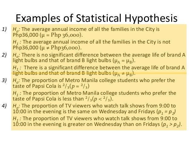 null hypothesis statistics