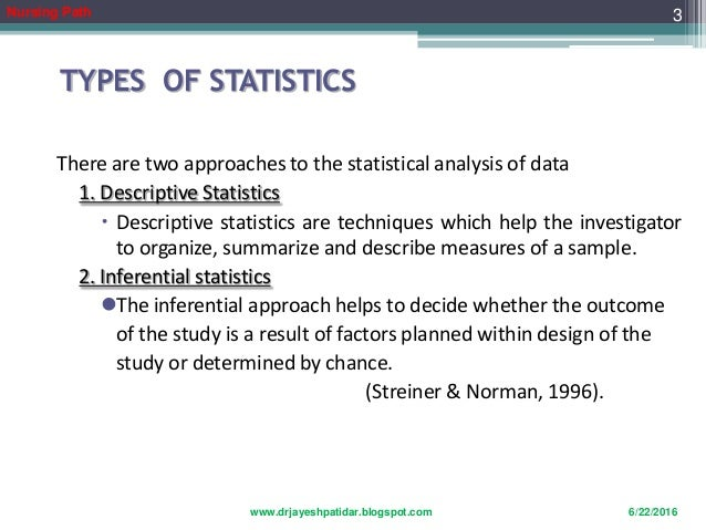 uses of statistics in nursing ppt