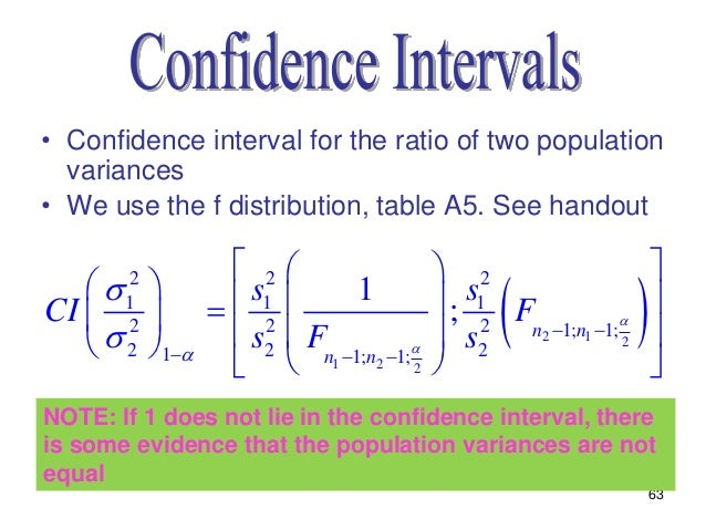Statistics lecture 8 chapter 7 for F table 95 confidence