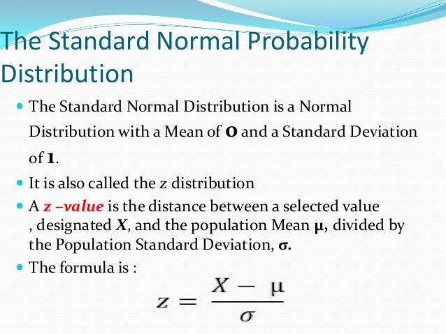 statisitcs normal distribution The normal distribution is defined by the following probability density function, where μ is the population mean and σ 2 is the variance if a random variable x follows the normal distribution, then we write: assume that the test scores of a college entrance exam fits a normal distribution.