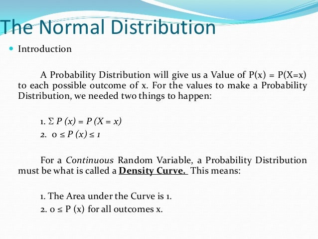 Statistics Normal Distribution