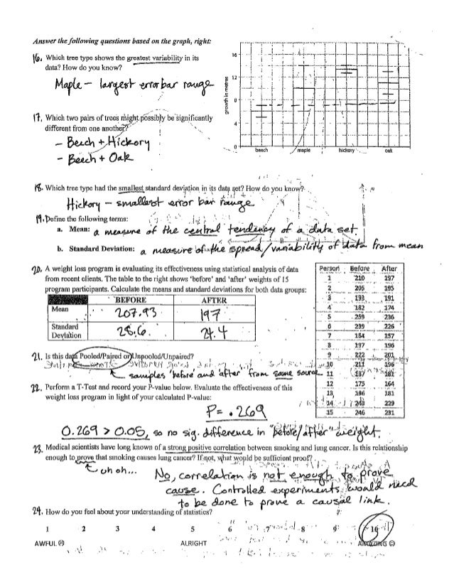 Ib Statistics Review Key