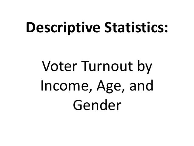 Descriptive and Inferential Statistical Methods: Analysis of Voting and Elections Slide 2