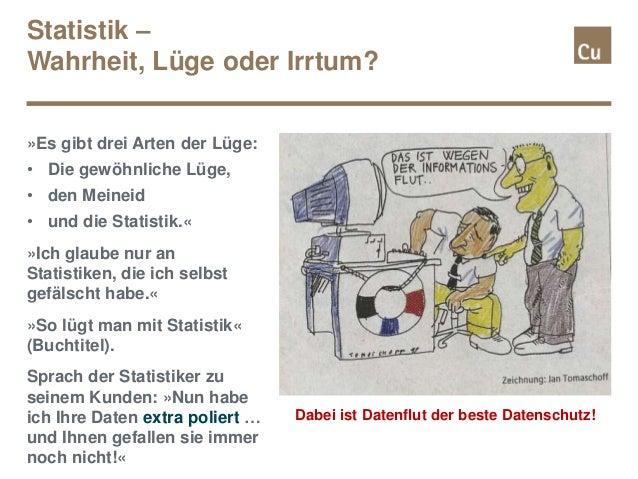»Es gibt drei Arten der Lüge: • Die gewöhnliche Lüge, • den Meineid • und die Statistik.« »Ich glaube nur an Statistiken, ...