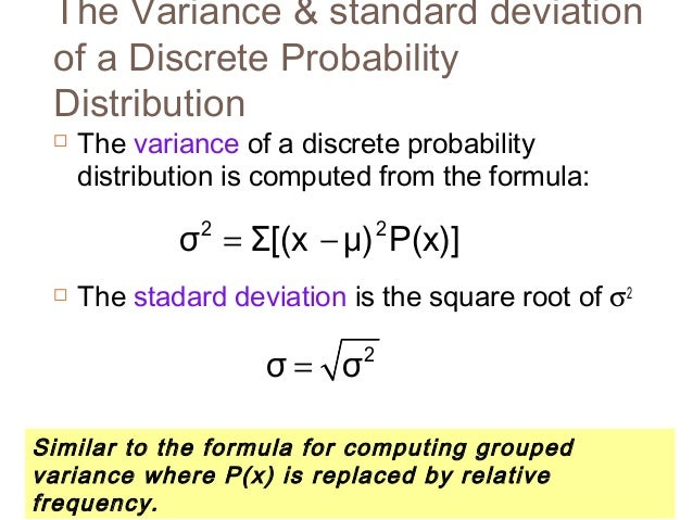 Statistik 1 5 distribusi probabilitas diskrit the standard deviation is the square root of s2 13 ccuart Images
