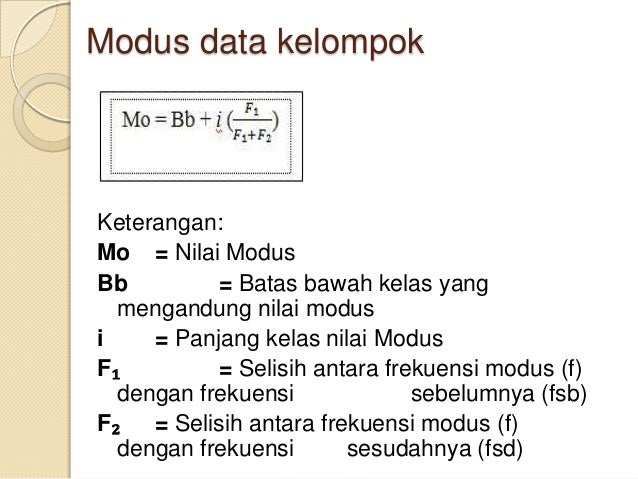 Statistik 2 Mean Median Modus Data Kelompok