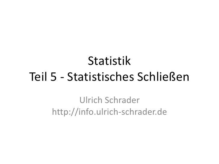 Statistik - Teil 5