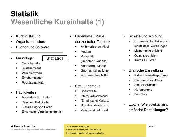 Statistik II Slide 2