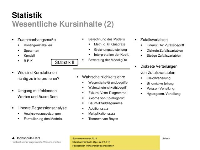 Statistik II Slide 3