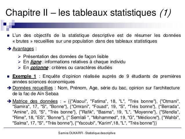 statistique descriptive 33 - Resume Cours Science Bac Tunisie