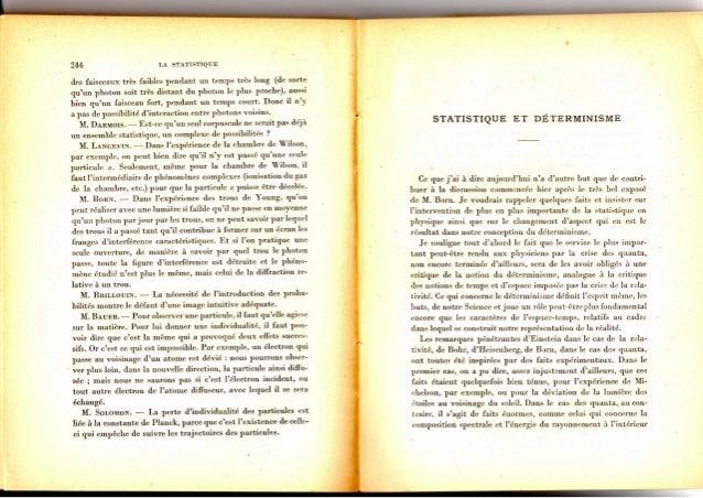Statistique et déterminisme par Paul Langevin