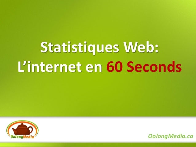 Statistiques Web:L'internet en 60 Seconds                   OolongMedia.ca