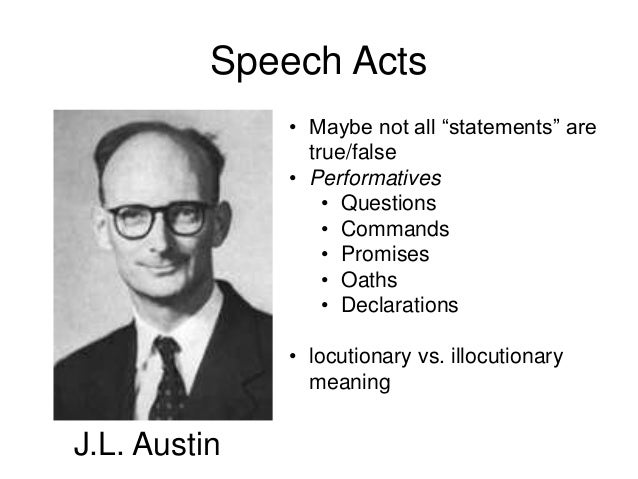 the contribution of speech act theory Ical study that attempts to determine a relationship between speech act theory ( sat) and electronic commerce any theory that can contribute to the  development.
