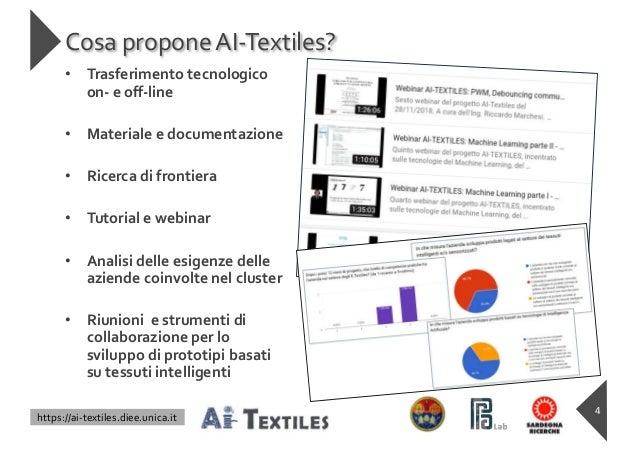 https://ai-textiles.diee.unica.it Cosa propone AI-Textiles? 4 • Trasferimento tecnologico on- e off-line • Materiale e docu...