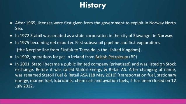 Strategic Analysis - Statoil Slide 3