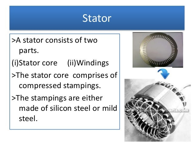 Stator and rotor of a monoblock motor