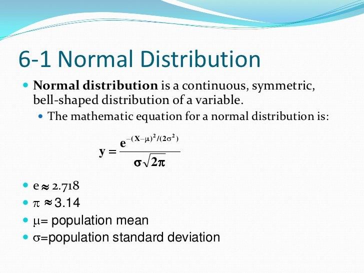 The normal distribution the normal distribution 1 statistics 2 ccuart Images